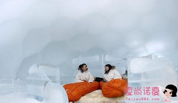 日本北海道的冰旅馆
